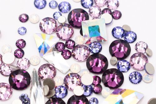 Swarovski Mixed Colour & Shape Pack February Birthstone Collection 155pcs